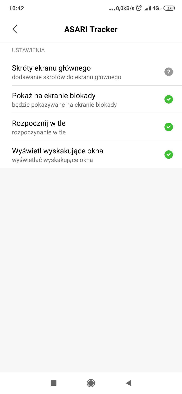Konfiguracja uprawnień aplikacji zainstalowanej na telefonie