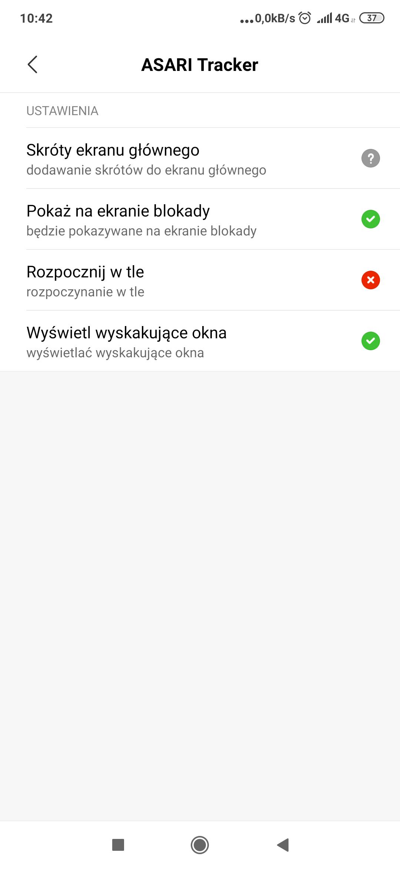 Szczegółowe uprawnienia aplikacji ustawiane w opcjach systemu Android