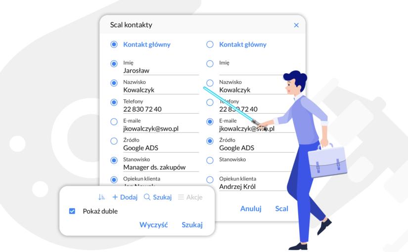 Scalanie kontaktów i firm – zaprowadź nowy porządek w bazie